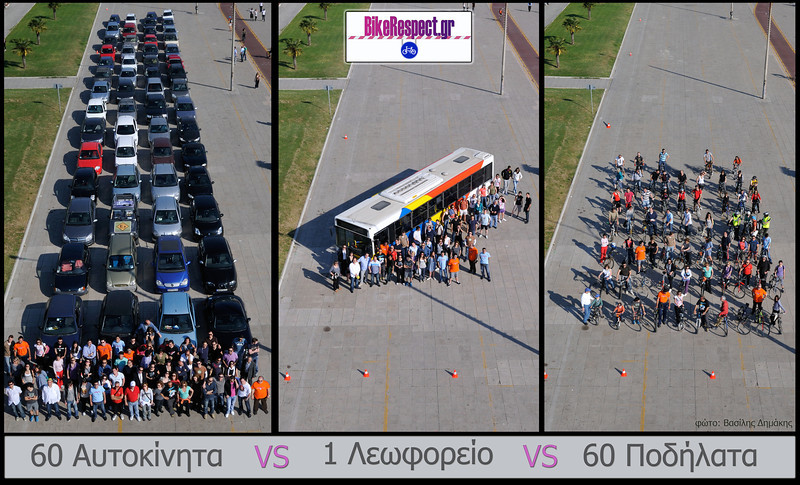 Cars Versus Bikes Versus Bus The Greek also made one
