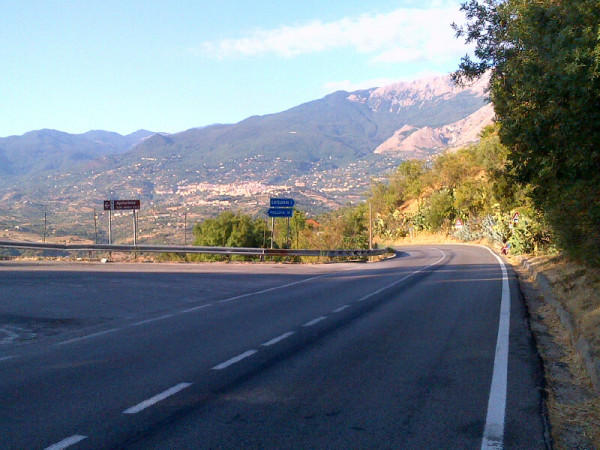 Road to Castelbuono (in distance)