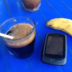 1 pre-race nutrition, sugary black coffee and banana